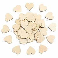 Confezione da 100 pezzi Mini Wooden Love Heart Forme Regalo Making Decor Scrapbooking Craft Card 20x20mm Legno Craft