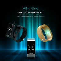 Wholesale Golden Earphones - 2017 new Jakcom B3 Sports Smart wristband Smart Watch Support bluetooth earphone Sleeping heart rate monitor bracelet with retail box