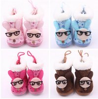Wholesale Cheap Glass Shoes - Drop shipping!Lovely glasses rabbit baby shoes,soft cartoon toddler shoes,winter warm walker shoes,cheap kids snow boots.9pairs 18pcs.ZH