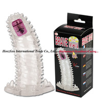 w1031 BAILE Brand Super Multi Glans Penis Vibration Sleeve Real Stout Feeling Pleasure Thickening Увеличивает сексуальные игрушки BI-026202A