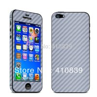 Wholesale Iphone Vinyl Stickers - Wholesale-Free shipping! 1Piece Lot High Quality Carbon Fibre Skin Sticker Vinyl Decal Full Body Wrap for iPhone 5 5G DS003