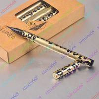 Wholesale Real Pen Eyeliner - HOT Makeup Leopard Real Pen Eyeliner Waterproof Black (12pcs lot)