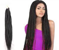 Wholesale Wholesale Braids Senegal - Z&F 100% kanekalon and toyokaon Crochet Braids Hair senegal rope twist braid black people fashion synthetic hair bulks