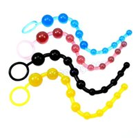 Wholesale Orgasm Balls - Sexy Novelties Beads Chain Orgasm Vagina Plug Play Pull Ring Ball Jelly Anal Toy