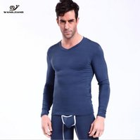 Wangjiang Modal Winter Men Термическое нижнее белье Pounch Breathable Sporting High Elastic Men Spandex Tights Sexy Long Johns