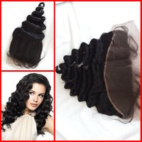 Wholesale Swiss Lace Indian Remy Closure - G-EASY Mongolian malaysian virgin remy hair lace frontal piece loose wave human hair cheap top closure piece swiss lace
