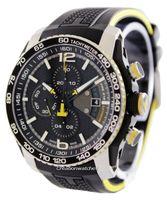 relojes de acero inoxidable al por mayor-Relojes de cuarzo del cronógrafo del cronógrafo del estilo del deporte de los nuevos hombres de la manera para la correa de goma 008 de los hombres