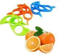 Wholesale Mouse Cutter - Cute Mouse Shape Lemons Orange Citrus Opener Peeler Remover Slicer Cutter Quickly Stripping Kitchen Tool Fruit Skin Remover Knife ON-20