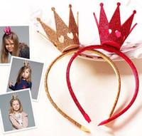 ingrosso i capelli dei capelli dei bambini piegano-Girls bow Baby Christmas Hair Thing Kids Archi per capelli Accessori per bambini Hairbows Accessorio per capelli per ragazze Crown Hair Bows Accessori per capelli per neonati