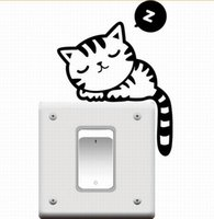 Wholesale Generation Sticker - Switch Removable Wall Stickers Cartoon Cute Kittens Generation Switch Stickers