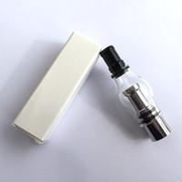 ingrosso base di zinco-Penne per atomizzatori di vetro con cera per vetri - Bobina in titanio METAL, base in RAME Non in lega di zinco - Penna in vetro PK Penna in vetro per vaporizzatore