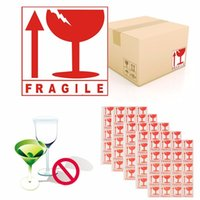Wholesale Sticker Fragile - 100 Pcs A Pack Fragile Caution Sign Packing Self-Adhesive Sticker Safety Warning Notice 5x5.5cm High Quality Hot Sale
