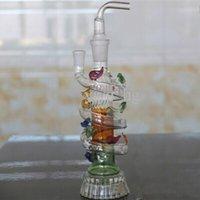 tubos de água de vidro dragão venda por atacado-Alta qualidade 2015 venda quente dragão canos de água para fumar tubo de água de vidro percolador frete grátis