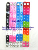 Wholesale Kids Wholesale Shoes China - NEW Wholesale 100 pcs Shoe Charms Silicone Wristbands Bracelets,21cm,Mixed 10 Colors Kids Gift Free Shipping