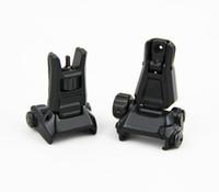 respaldo negro al por mayor-Tactical GEN3 Metal Front Back Respaldo plegable para PTS con marcado en negro