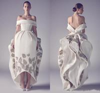 modèles pour robes de soirée achat en gros de-Printemps Ashi Studio Robes De Bal Emboridery Off The Épaule Salut Lo Party Dress Satin Motif Fleur Backless Robe De Bal Robes De Soirée