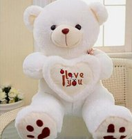 bej oyuncak ayı toptan satış-Bej Dev Büyük Peluş Teddy Bear Sevgililer Günü Doğum Günü için Yumuşak Hediye