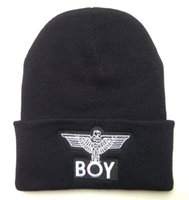 Großhandel Schwarze Beanie Herren Kaufen -Wholesale-freies neues heißes BOY LONDON Eagles Ausgabe 3D LOGO Beanies Hut Mens Sports Skullies Beaniekappen Schwarz Günstige Selling Online