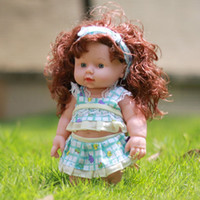 Wholesale baby cartoon model for sale - Group buy Infant Reborn Baby Doll Soft Vinyl Silicone Lifelike Fashion Newborn Baby Speaking Doll Toy Baby Educational Kids Gifts Accessories