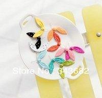 Wholesale Rabbit Dust Plug Headphone - Wholesale-10 pcs lovely and fashion Rabbit ears Style 3.5mm Headphone Jack Charm Dust Plug Cap for iPhone 5,4,4s,For iPad iPod ,Samsung S4