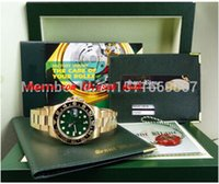 Wholesale file tags for sale - Group buy Luxury Wristwatch NEW Sapphire Green Index II CERAMIC automatic Mens Men s Watch Watches Original Box Files