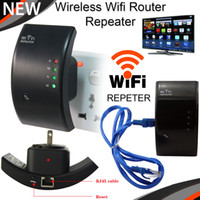 Wholesale wireless router range extender - Wireless N Wifi Router Repeater Booster Amplifier Transmitter Signal Range Extender 300Mbps 802.11N B G Networking Wifi Finders