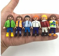 Wholesale Horse House - 5pcs 5 .5cm Playmobil Toys Set Original 2016 New Playmobil Police Pirate Princess Horse House Action Figures Lot Gifts For Kids 2017