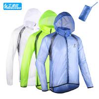 Wholesale cycling windproof raincoat resale online - ARSUXEO Ultra thin Breathable Windbreaker Men s Windproof Cycling Jacket Waterproof Bicycle Jersey Mountain Bike Raincoat Women MTB Clothing