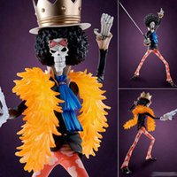 Wholesale Pop Brook - Anime Figurines One Piece Brook MegaHouse POP PVC Action Figure model Toy 23CM