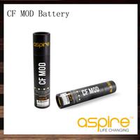 ingrosso tubi di batteria-Aspire CF Mod Fit 18650 Batteria per sub ohm con tubo rivestito in fibra di carbonio 510 fili mods sigaretta elettronica