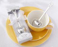 Wholesale Teatime Heart Tea Infuser - Hot selling stainless steel Heart Tea Infuser wedding gift and giveaways--TeaTime Favor in Teatime exquisite gift box 400 pieces lot