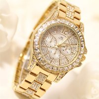 Wholesale custom drills - BS New High-end Chain Custom Silver Square Diamond Drill Full Female Watch Women Watch Female Wrist Watch