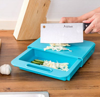 Wholesale Fruit Chopping Board - Korea Design Creative kitchen 3-In-1 cutting board wash with handle cut fruit   meat with sink drain and chopping board 36x23x4cm