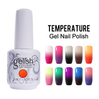 Wholesale gel nails polish colors - Color Changing UV Gel Nail Gelish Nail Art Soak Off Temperature Gel Colors ml