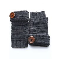 Wholesale Delicate Fingerless Gloves - Wholesale-Delicate Men Fashion Winter Thick Mittens Knitted Warm Fingerless Gloves Button New nor5902