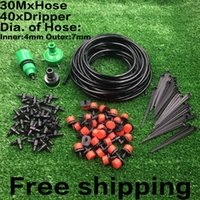 Wholesale Nozzle Sprayers - 30m 40pcs Dripper DIY Plant Self Watering Garden Hose Micro Drip Irrigation System Kit
