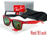 Wholesale Plastic Aviator Glasses - Hot Sale Aviator Sunglasses RAY Vintage Pilot Brand Sun Glasses Band Polarized UV400 Bans Men Women Ben Mirror 54mm Glass With Cases