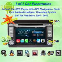 Wholesale Dvd Gps Fiat Bravo - Car dvd Multimedia radio android player for Fiat Bravo 2007 - 2012,autoradio CD, gps navigation,Pure android 4.4.4, Quad Core