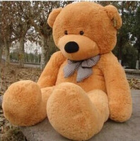 Wholesale Plush Teddy Bear Soft Toy - 2015 New Arriving Giant 180CM 70''inch TEDDY BEAR PLUSH HUGE SOFT TOY 1.8m Plush Toys Valentine's Day gift  Birthday gifts  New Year's gift