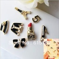 Wholesale Phone Decorating Charms - Wholesale-Free shipping! Min.order is $15 (mix order) small wholesale rhinestones charms to decorate phone cases 6pcs D554
