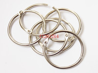 Wholesale Manual Binder - 200pcs lot DHL Free shipping Wholesale 50mm Book Hoop Binding Rings Binder Hoops Loose Leaf Ring Scrapbook Album DIY keyring