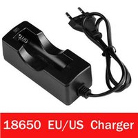 Wholesale Travel Multi Plugs - Black 18650 Li Battery Chargers Fashion Multi Functional Smart Travel Chargers Plastic Material EU US Plugs New Arrivals Hot Sale