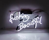 neon lichter zeichen spiele großhandel-Leuchtreklame Licht Bar Wandschilder Lampe Schöne Zeichen für Zuhause Mädchen Schlafzimmer Pub Hotel Strand Cocktail Freizeitspiel Room Decor 14x9 Zoll