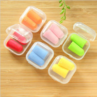 Wholesale Noise Ear Plugs Wholesale - Free Shipping bullet shape Foam Sponge Earplug Ear Plug Keeper Protector Travel Sleep Noise Reducer #71166