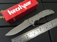 Wholesale Hunting Beads - Kershaw Volt SS II Assisted Opening Knife Stainless Steel Bead Blast 3655SS 8Cr13MOV steel Plain Folding blade knife knives new in box