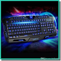 Wholesale Dota Keyboard - Gaming Keyboard 104keys led Backlight 19keys Anti-ghost USB multi-media Laser Lettersteclado mecanico Mechanical Keyboard Dota LOL