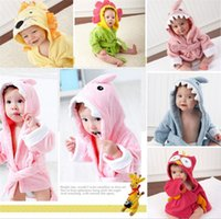 en iyi bebek banyoları toptan satış-35 adet yeni gelmesi en iyi fiyat bebeğin Bornoz 7 tasarımlar Bebek Banyo Havlusu Hayvan Çocuk Banyo Robe Yenidoğan Battaniye Banyo Havlu Kapşonlu D301