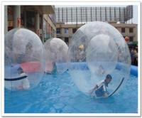 zíper para bola de água venda por atacado-Popular Water Walk bola PVC marca TIZIP Zipper bola inflável bola andando bola de dança bola de água transparente bola zorb