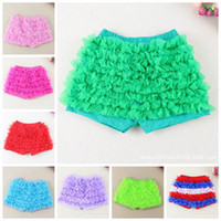 Wholesale Ruffled Bloomers - baby ruffle shorts baby girls bloomers chiffon fashion kids tulle summer short pants wholesale girls boutique pants toddler cotton underwear