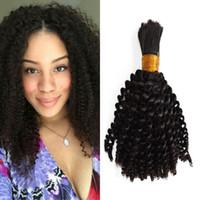 Wholesale bulk hair for sale - Kinky Curly Human Braiding Hair Bulk Burmese Raw Human Hair Bulk G b Natural Black Color FDshine